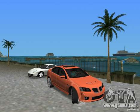Pontiac G8 GXP for GTA Vice City
