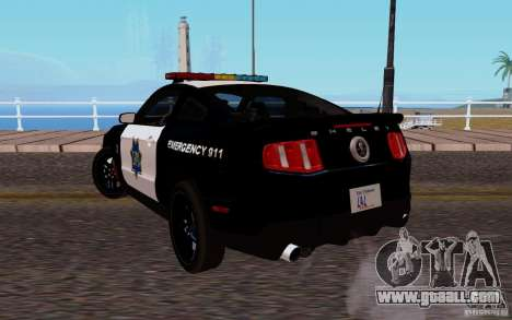 Ford Shelby Mustang GT500 Civilians Cop Cars for GTA San Andreas back left view