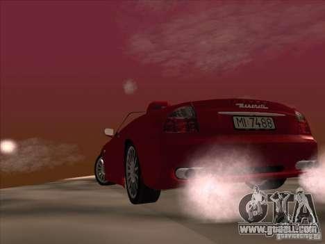 Maserati Spyder Cambiocorsa for GTA San Andreas upper view