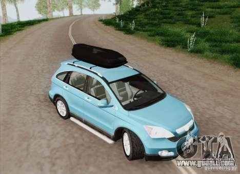 Honda CRV 2011 for GTA San Andreas inner view