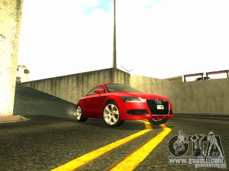Audi TT 2009 v2.0 for GTA San Andreas back left view
