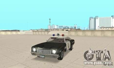 Chevrolet Monte Carlo 1970 Police for GTA San Andreas