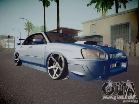 Subaru Impreza WRX STI for GTA San Andreas upper view