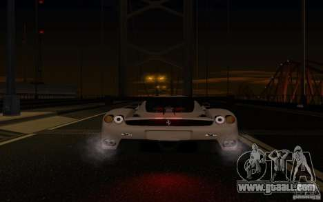 Ferrari Enzo ImVehFt for GTA San Andreas bottom view