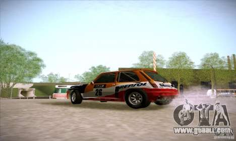 Renault 5 GT Turbo Rally for GTA San Andreas left view