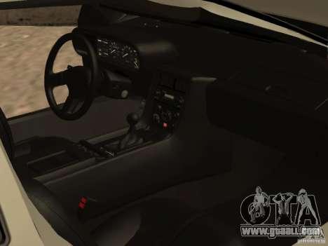 DeLorean DMC-12 for GTA San Andreas bottom view