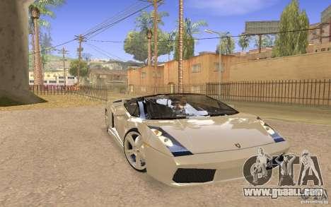 Lamborghini Galardo Spider for GTA San Andreas right view