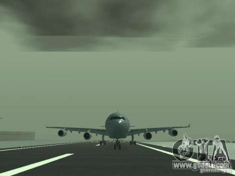 Airbus A340-300 Air France for GTA San Andreas back view