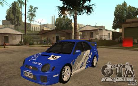 Subaru Impreza WRX for GTA San Andreas