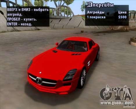 Mercedes-Benz SLS AMG V12 TT Black Revel for GTA San Andreas inner view