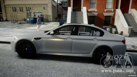 BMW M5 F10 2012 for GTA 4 left view