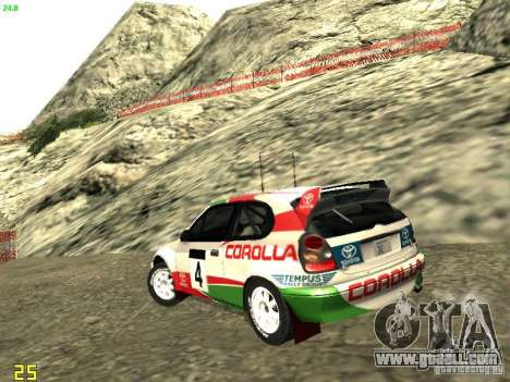 Toyota Corolla 1999 Rally Champion for GTA San Andreas left view