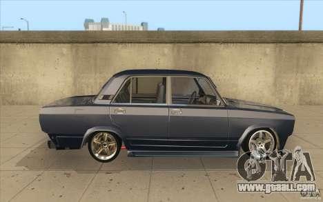 Vaz-2107 Lada Street Drift Tuned for GTA San Andreas inner view