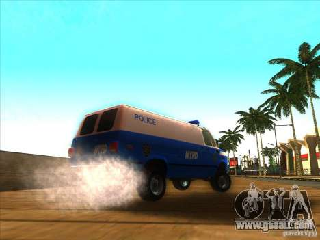 Chevrolet Van G20 BLUE NYPD 1990 for GTA San Andreas back left view