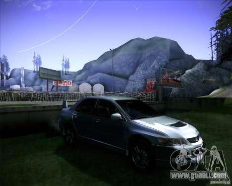 Mitsubishi Lancer Evolution VIII MR for GTA San Andreas right view