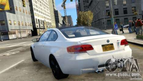 BMW M3 E92 2008 v1.0 for GTA 4 back left view