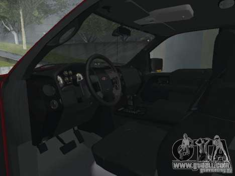 Ford F-150 2005 for GTA San Andreas inner view