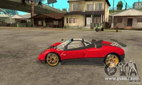 Pagani Zonda Tricolore V1 for GTA San Andreas left view