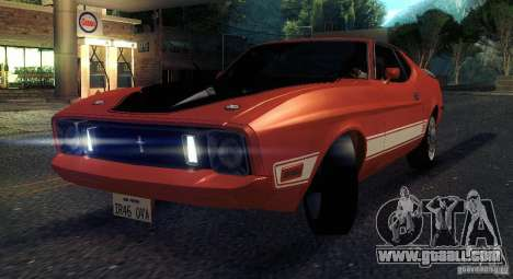 Ford Mustang Mach1 1973 for GTA San Andreas inner view