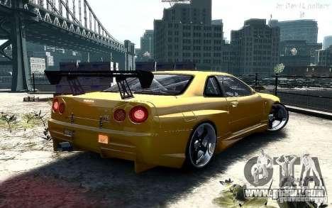 Nissan SkyLine BNR34 for GTA 4 left view
