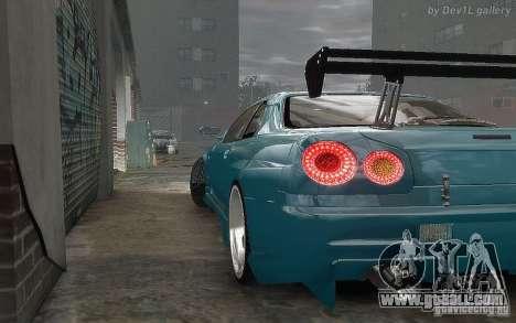 Nissan SkyLine BNR34 for GTA 4 back view