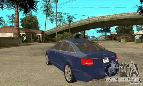 Audi S6 Limousine V1.1 for GTA San Andreas back left view