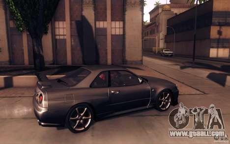Nissan Skyline GTR R34 VSpecII for GTA San Andreas left view