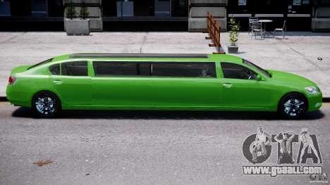 Lexus GS450 2006 Limousine for GTA 4 engine
