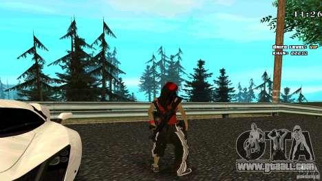 Chicano Chick Skin for GTA San Andreas third screenshot