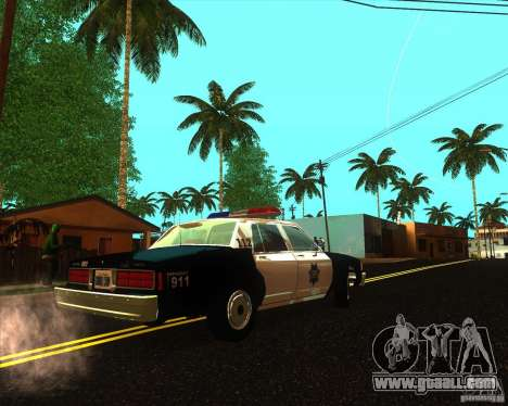 Chevrolet Caprice 1986 SFPD for GTA San Andreas back left view