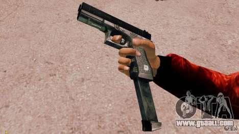 Glock 18 Akimbo (black/grey) for GTA 4