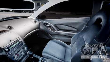 Toyota Celica Tuned 2001 v1.0 for GTA 4 inner view