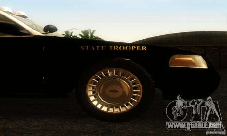 Ford Crown Victoria Wyoming Police for GTA San Andreas right view