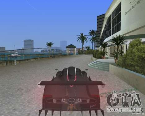 Pagani Zonda R for GTA Vice City left view