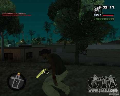 Desert Eagle GOLD for GTA San Andreas second screenshot