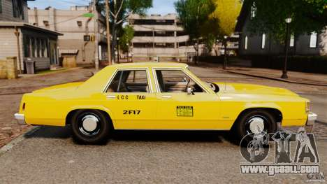 Ford LTD Crown Victoria 1987 L.C.C. Taxi for GTA 4 left view