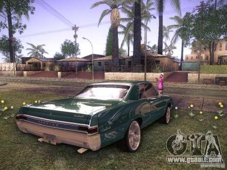 Pontiac GTO 65 for GTA San Andreas back left view