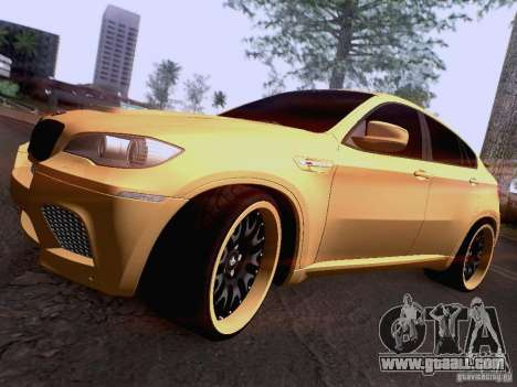BMW X6M Hamann for GTA San Andreas wheels
