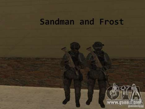 Frost and Sandman for GTA San Andreas