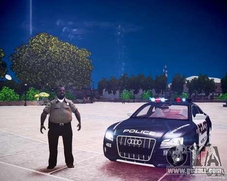Audi S5 Police for GTA 4 back view