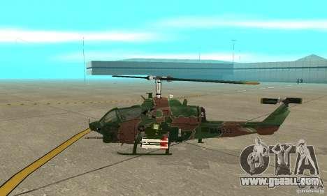 AH-1 super cobra for GTA San Andreas back left view