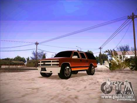 Chevrolet Suburban 1998 for GTA San Andreas
