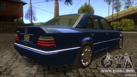 Mersedes-Benz E500 for GTA San Andreas inner view