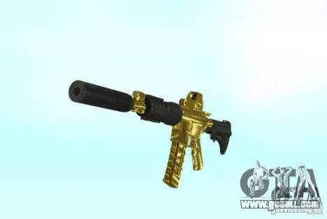 [GOLD] m4 for GTA San Andreas second screenshot