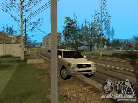 Toyota Land Cruiser 100 VX for GTA San Andreas back view