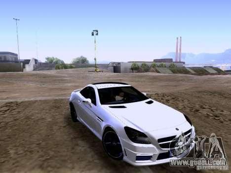 Mercedes-Benz SLK55 AMG 2012 for GTA San Andreas left view