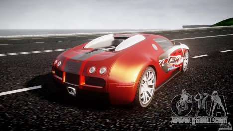 Bugatti Veyron 16.4 v1 for GTA 4 back left view