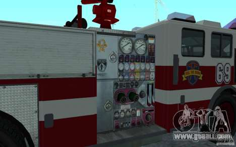 FIRETRUCK for GTA San Andreas back left view