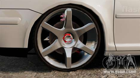 Volkswagen Golf Flash Edit for GTA 4 back view