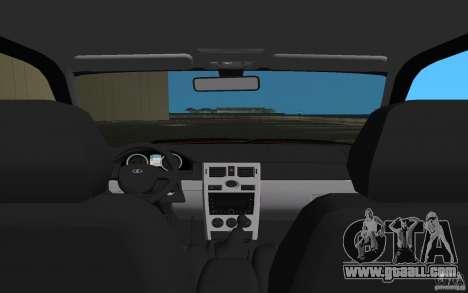 Lada 2170 Priora for GTA Vice City upper view